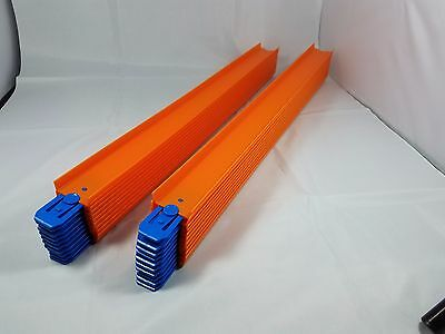 New Hot Wheels track lot of 20 piece 20 inches long blue connectors 33 feet