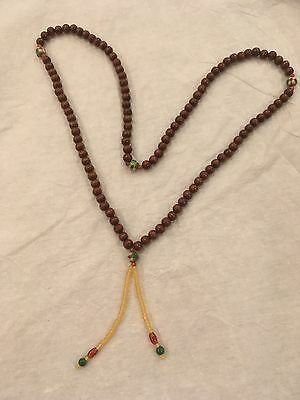 Chinese Court Necklace 108 wood beads.
