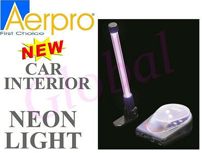 Aerpro NE262 95MM PINK MINI NEON LIGHT ROD CAR INTERTIOR w/ cigarette adpater