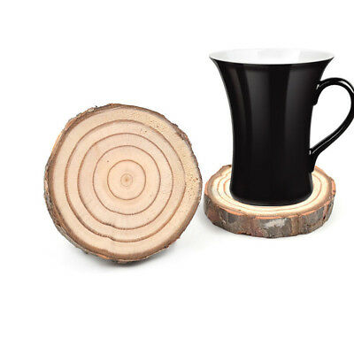 1 Pc Wooden Coaster Slice Cup Tea Mug Holder Round Placemat Home Decoration New