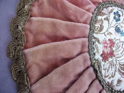 Gorgeous French Boudoir Pink Velvet With  Metallic Embroidery & Trim