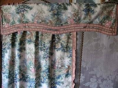 Delightful Antique  French Country  Cottage  Curtain With Matching Pelmet