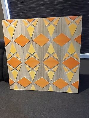 WALL ART HOME DECOR - GEOMETRICAL SHAPE x2