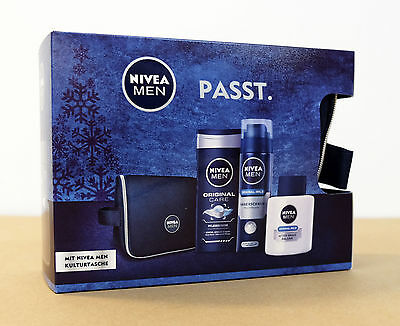 NIVEA for men Reiseset + Kulturtasche 1 Pack ( 1 x 4 Stück )