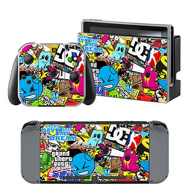 Decal Skin Sticker Dust Protect Cover For Nintendo Switch Console +Controller AU