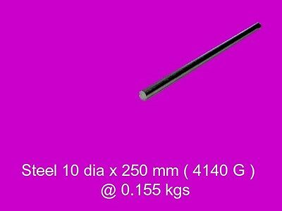 Steel 10 dia x 250 mm CD Bar 4140-High Tensile-Lathe