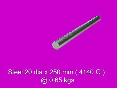 Steel 20 dia x 250 mm Peeled Bar 4140-High Tensile-Lathe