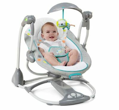 Baby Swing Seat Infant Portable Bouncer Combo Chair Converts Vibrating Musical