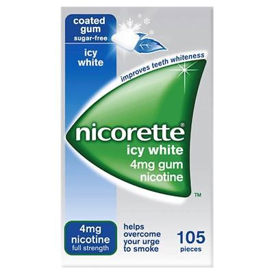 Nicorette Icy White Gum 4mg 105 Pieces - 6 Pack