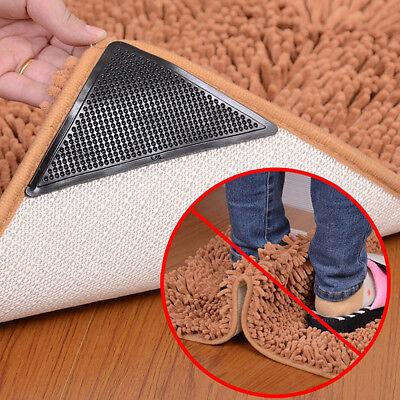 4x RUGGIES REUSABLE RUG CARPET MAT GRIPPER NON SLIP SKID WASHABLE TOOL bathroom