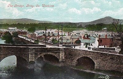 MAIN STREET BRAY CO. WICKLOW IRELAND IRISH POSTCARD by VALENTINES No. 47492