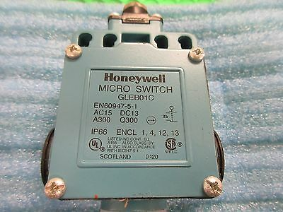 GLEB01C, Honeywell Limit Switch Roller Plunger GLE SPDT S/ACTION NEW