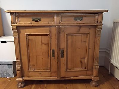 Antique pine sideboard with draws