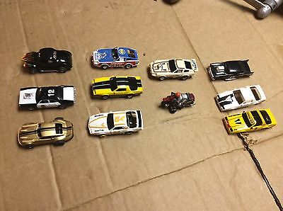 Lot Of 8 Slot Cars  H-O Scale , 3 Extra Body