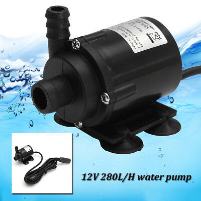 280L/H DC 12V Quiet Mini Water Pump Brushless Submersible Motor Pump Hmax 2.2m