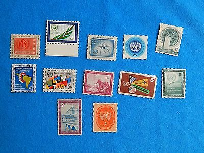 NM Collections- MNH UNITED NATIONS VINTAGE POSTAGE STAMP COLLECTION LOT 800