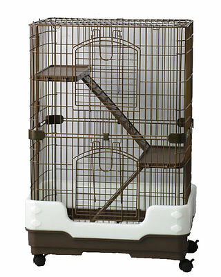 Lazy Bones 3 Tier Chinchilla Cage - Also Suitable For Large Rats & Ferrets