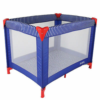 New Red Kite Sleeptight Compact Portable Baby Travel Cot Playpen Ships Ahoy