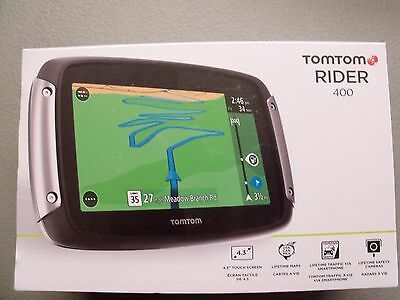 New TomTom RIDER 400 Motorcycle GPS Tom Tom Navigation Lifetime USA Canada maps