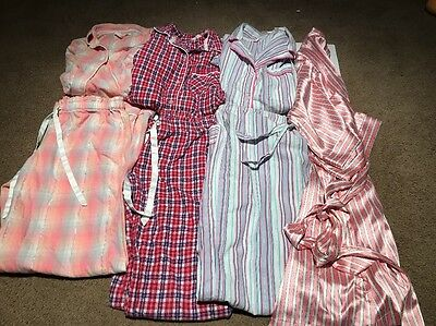 Lot Of 3 Victoria's Secret Pajama Sets XS & Silky Robe S/M Great Deal!