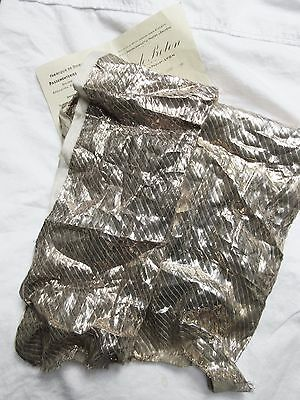 pc Antique Vintage French Lame Fabric Silver Metallic  Flapper  Victorian