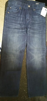 NWT H&M Boys Jeans Denim Relaxed Fit Size 7-8 Blue Wash