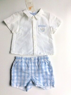 Mayoral Baby Boy Shorts And Shirts Set, Age 6-9 Months