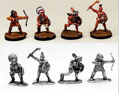 28mm Braves of the Plains-Painted & Unpainted-SONG OF DRUMS AND TOMAHAWKS Book