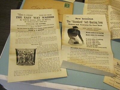 1912 Harrison Company Easy Way Self Heating Iron and Washer Advertising Lot