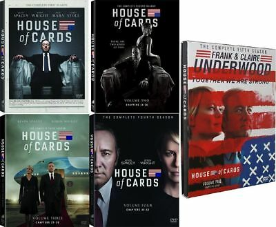 House of Cards: The Complete Series Season 1-5 (DVD Bundle Set) 1 2 3 4 5 Sealed