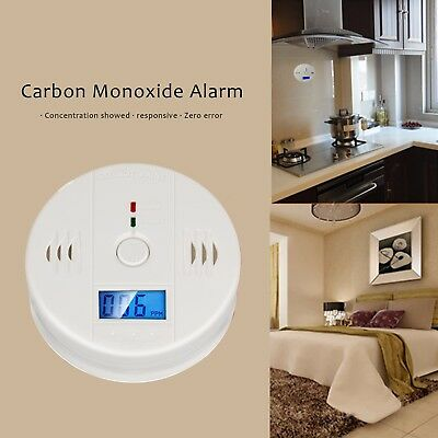 LCD CO Carbon Monoxide Detector Poisoning Gas Warning Sensor Monitor Alarm - CO