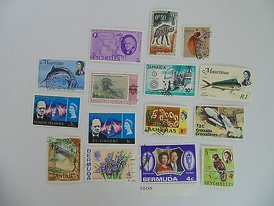 L1641 - Collection Of Mixed Caribbean & Other Isles Stamps