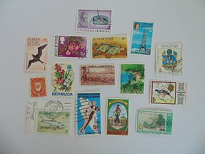 L1643 - Collection Of Mixed Caribbean & Other Isles Stamps