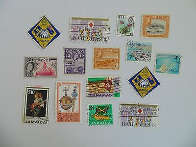 L1645 - Collection Of Mixed Caribbean & Other Isles Stamps