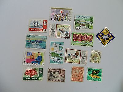 L1649 - Collection Of Mixed Caribbean & Other Isles Stamps