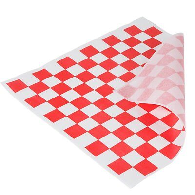 Red and White Checkered Food Grade Tissue Paper, Deli Basket Liner, 12 X 12 Dry
