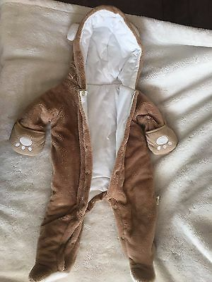 Baby Boy/Girl Bear Bunting Snowsuit Size -6-12 Month. Adorable!
