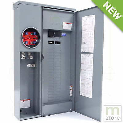 Square D 200 Amp Load Center Main Breaker Panel Meter 42-Circuit 42-Space Solar