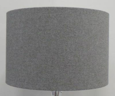 Shetland Brushed GREY Linen Style Cylinder / Drum Lampshade Ceiling / Table