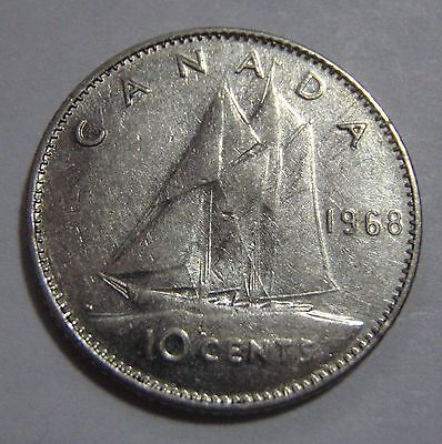 1968 Canada 10 Cent Coin - free ship to US