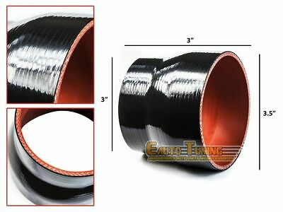 """BLACK 4/""""-4/"""" AIR INTAKE//PIPING RUBBER COUPLER FOR GMC"""