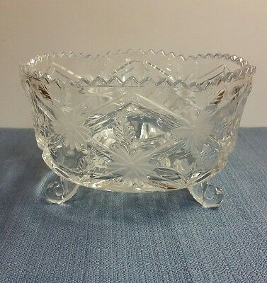 Crystal Etched Pedestal Candy Dish