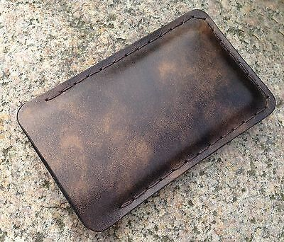iPhone 6/7/8 sleeve vintage real leather handmade,brown,case,pouch antique mens