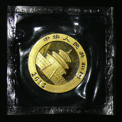 RARE 2012 ORIGINAL SEALED China 1 oz Gold Panda BU .999 Fine Still Sealed
