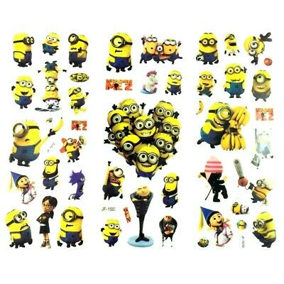 ❤️neues Minions Despicable Me 20 Kinder Tattoos Temporary Wasserdicht