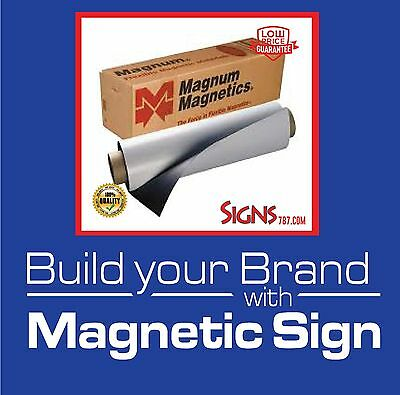"Magnum Mag 12"" width x 2 Ft ROLL 30 Mil. Blank Magnetic Sign Sheet Cars / Crafts"