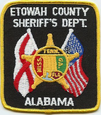 old vintage ETOWAH COUNTY ALABAMA AL SHERIFF POLICE PATCH
