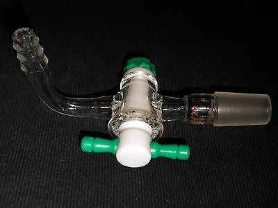 AceGlass 14/20 Joint 90° Flow Control Inlet Adapter, 2mm PTFE Stopcock, 5295