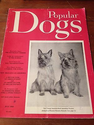 Vintage Dog Magazine with Australian Terrier Dogs on Cover - Popular Dogs 1960