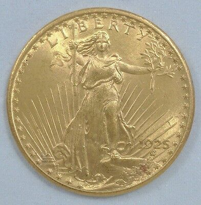 1925 Double Eagle - $20 - Saint (St) Gaudens - Twenty Dollar Gold Coin - Old US